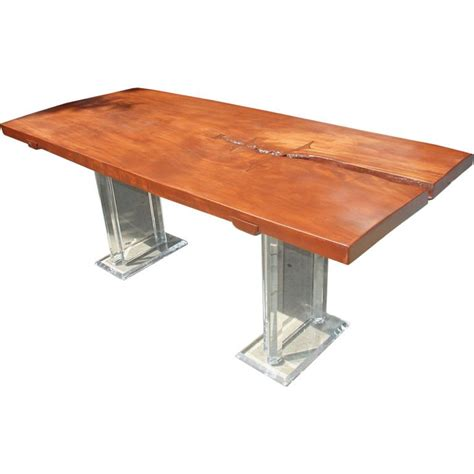 acrylic dining room table wood and lucite dining table at 1stdibs