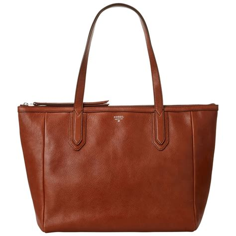 Leather Sydney by Fossil Sydney Leather Shopper Bag In Brown Lyst
