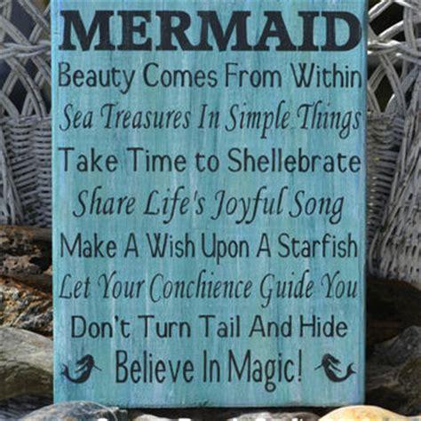 quot mermaid quot custom wooden sign coastal home decor beach beach decor beach sign mermaid from signs of love