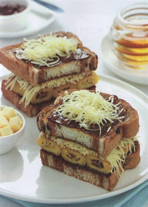 resep membuat roti bakar spesial resep masakan indonesia roti bakar pisang madu kraft