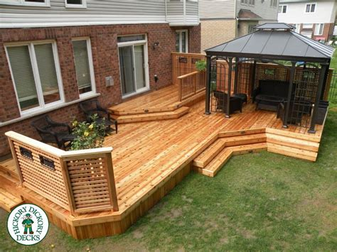 Ideas For Small Kitchens by This 2 Level 510 Sq Ft Western Red Cedar Deck With A