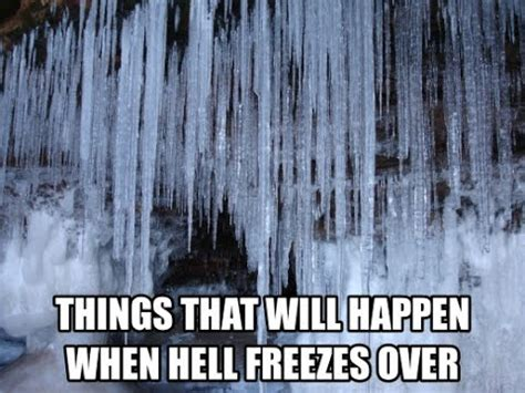 In The Newshell Has Frozen Overspocks I by Breaking News Hell Freezes Will Pope Francis
