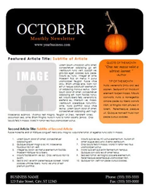 october preschool newsletter template october newsletter template you can this free
