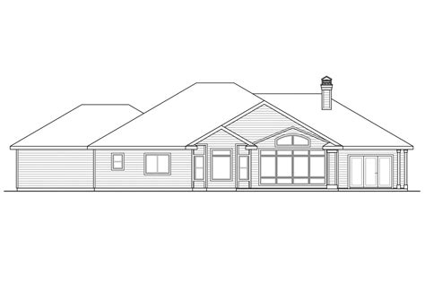 rear view house plans house plans rear view lot home design and style