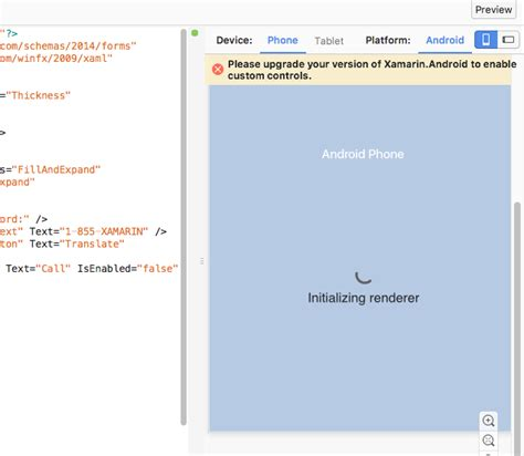 xamarin tutorial to set up xamarin android error message while setting up xamarin