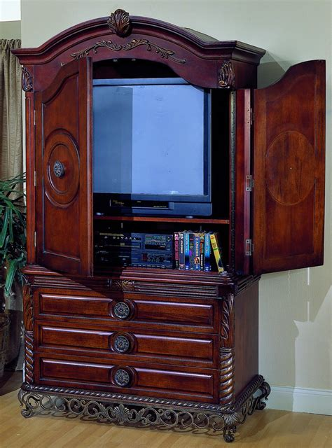 Armoire For Tv With Doors by Homelegance Madrid Tv Armoire With Breakaway Doors 829 7 Homelegancefurnitureonline