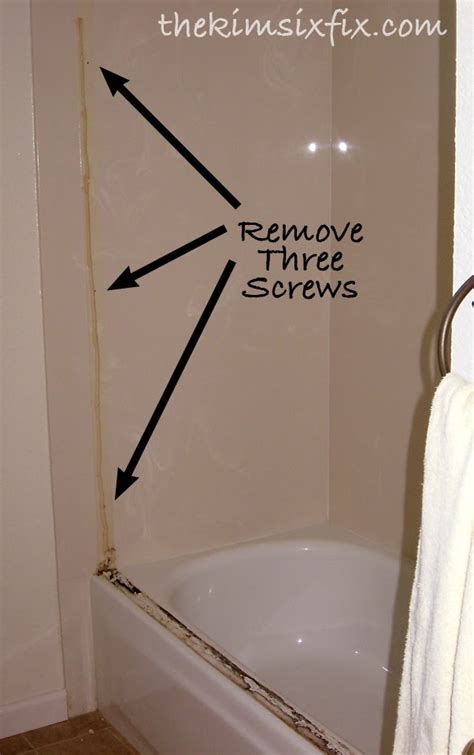 How To Remove Glass Shower Doors The Track May Still Be Stuck With Caulk Or Liquid Nails So Just Keep Prying It Up Until It