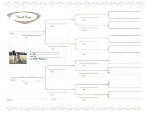 pedigree certificate template free blank pedigree forms blank pedigree chart