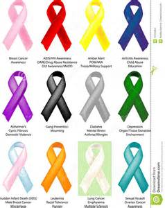 depression ribbon color awareness ribbons 12 individually shaded stock images