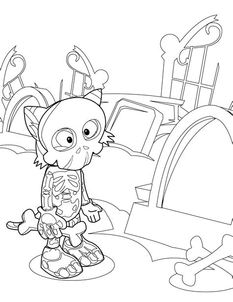 axial skeleton coloring page coloring pages