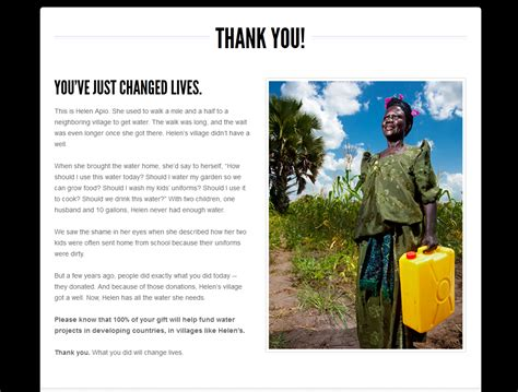 charity water thank you letter charity water donation and happy new year stock