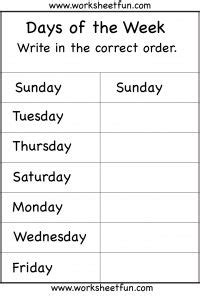 free printable english worksheets for reception days of the week 1 worksheet days of the week