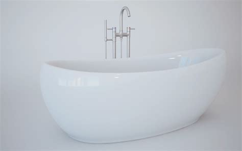 bath tub 3d model c4d cgtrader