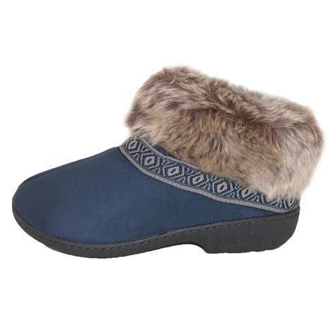 totes slippers womens womens low cut boot slipper by totes isotoner slippers