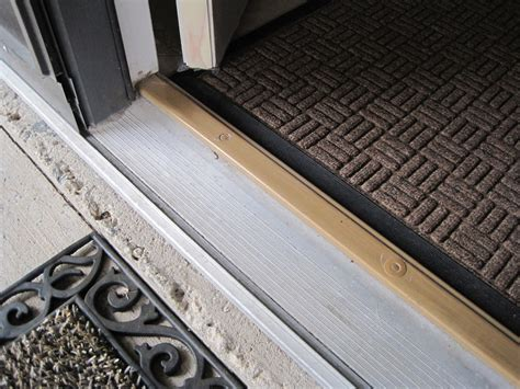 How To Install A Threshold For An Exterior Door Exterior Replace Door Threshold Saddle Home Improvement Stack Exchange