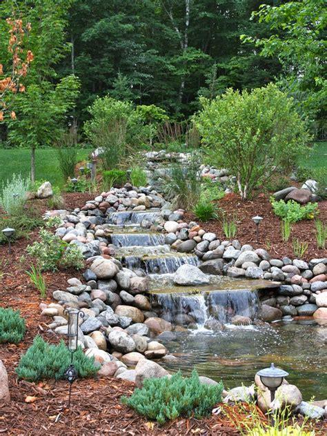 Waterfall Landscaping Ideas Waterfall Designs Hgtv