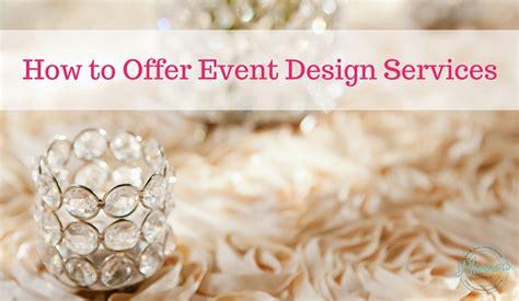 event design services how to offer event design