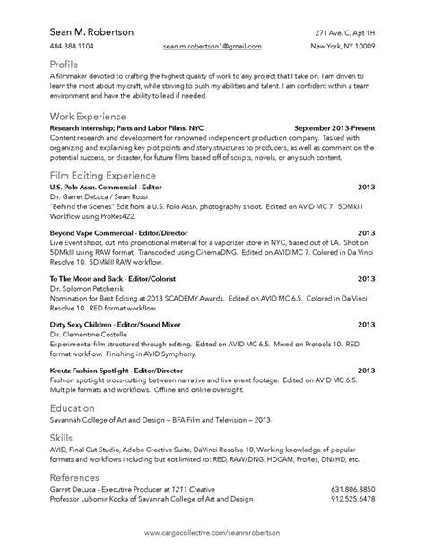 Filmmaker Resume by Filmmaker Resume Resume Ideas