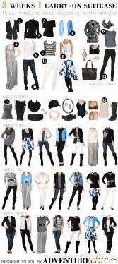 travelholic travel fashion 3 weeks 1 carry on suitcase