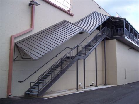 sheet metal awning commercial metal awnings canopies canopy replacement