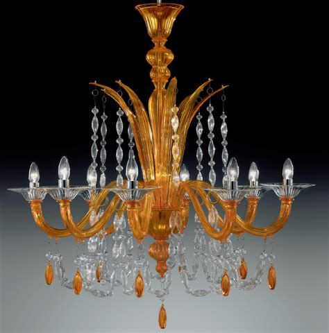 Orange Chandeliers Orange Color Modern Murano Glass Chandelier Dml6009k8 Chrome Finish Murano Imports