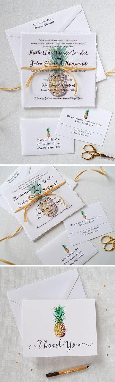 pineapple wedding invitations aloha the pineapple wedding invitation design features