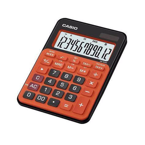 Casio Ms 20 Nc Kalkulator Blue Ms20nc casio ms 20nc brg dual power solar electronic tax