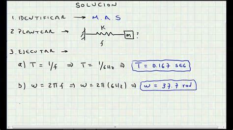 formula oscilacion amortiguada movimiento armonico simple ejercicio de aplicacion