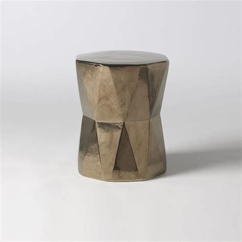 faceted ceramic side table contemporary side tables