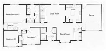 Open Floor Plan Ranch Homes Ranch Style Homes Floor Plans Left Side Of The Home