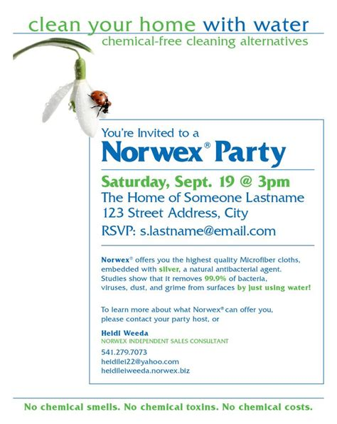 Printable Norwex Invitations | norwex party invitation ocassionally i am forced to