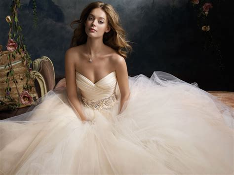 Sherbet tulle ball bridal gown pleated silk satin organza bodice with