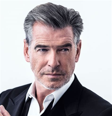 mens hair styles to hide grey area pierce brosnan has great grey hair hairstyles for over