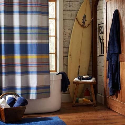 Boy Shower Curtains Southport Stripe Shower Curtain Pbteen
