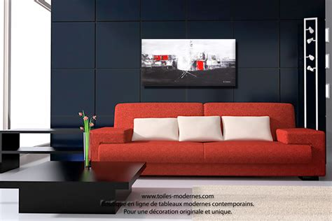 Formidable Tableau Decoratif Salon #9: Tableau-d%C3%A9co-rouge-et-noire-Aube-%C3%A0-l--Bhorizon-noir-blanc-.jpg