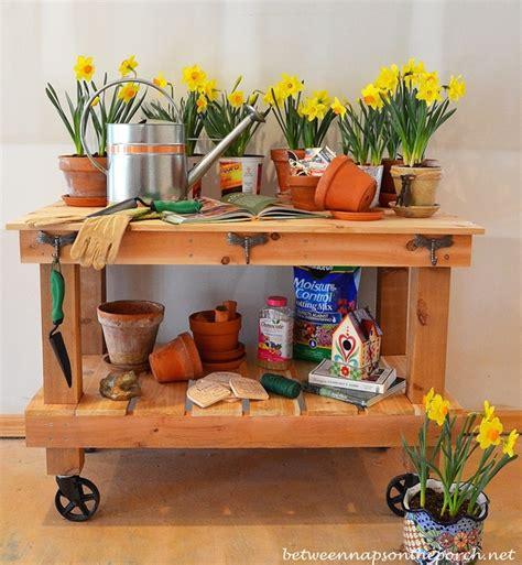pottery barn buffet table build a potting bench or garden buffet table pottery barn