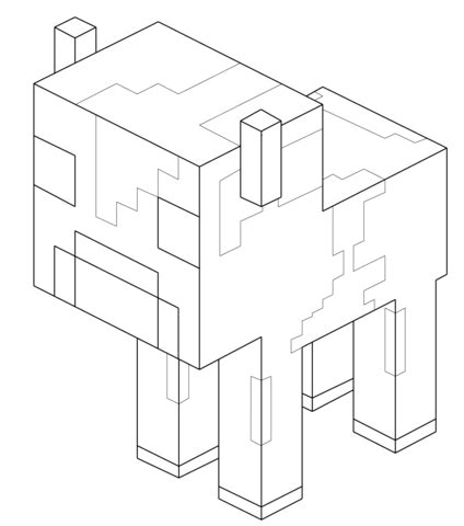 minecraft mooshroom coloring page baby mooshroom cow from minecraft coloring page free