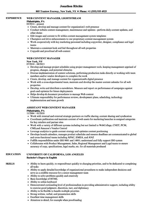 generous sharepoint content manager resume ideas exle