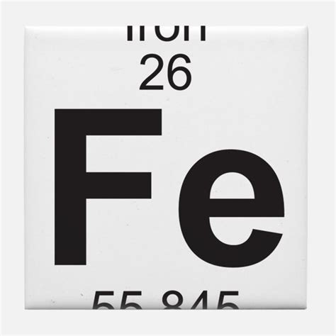 Iron On Periodic Table by Periodic Table Iron Coasters Cork Puzzle Tile