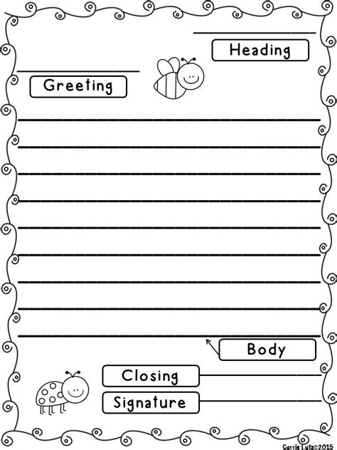 Friendly Letter Templates With Envelope Letter Writing Template