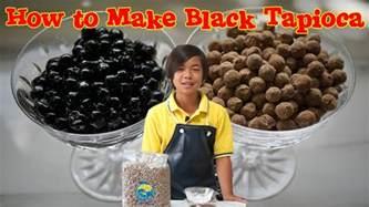 how to make black tapioca for bubble tea youtube