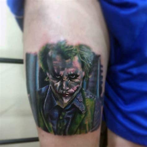 joker inspired tattoo 100 batman tattoos for men superhero ink designs