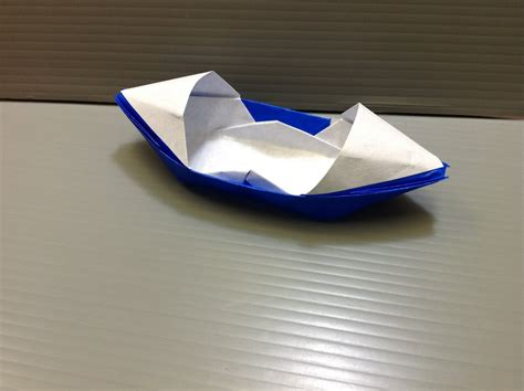 Floating Origami Boat - how to make paper boats that float readish course 1539