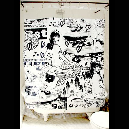 zombie mermaid shower curtain cool shower curtain cool finds pinterest curtain