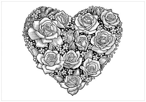 printable coloring pages for adults hearts free adult printable coloring pages roses heart coloring