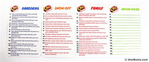 printable uno card game rules uno dare rules uno rules