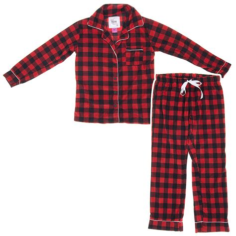 plaid pajamas black plaid fleece pajamas for