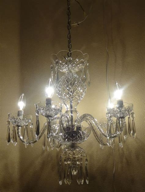 Waterford Lighting Fixtures Vintage Waterford Comeragh 5 Arm B5 Chandelier Vintage Crystals And Chandeliers