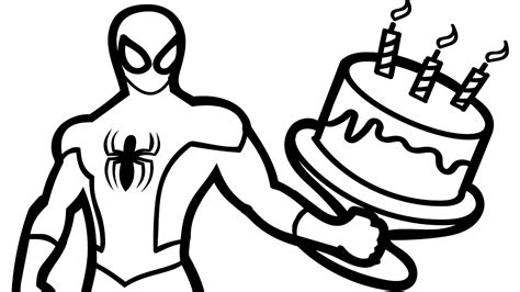 spiderman birthday coloring pages spiderman birthday clipart clipartxtras