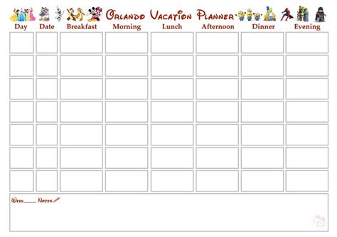 printable vacation planner calendar pin walt disney collection pinocchio cover cartoons ita